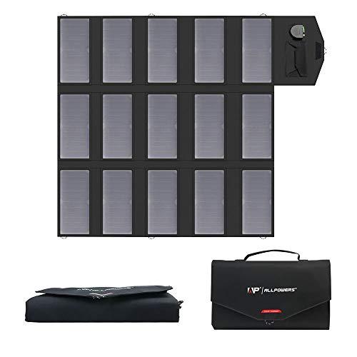 ALLPOWERS 100W Solar Ladegerät (18 V DC und 5V USB Dual Ausgang Ladegerät) SunPower Faltbar Solar Panel 12V Outdoor für Laptop, 12V Auto Batterie, Tablet, iPad, Handy, iPhone, Samsung, RV, Camping