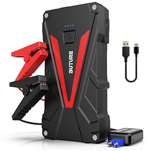 BuTure Starthilfe Powerbank, 800A Spitzenstrom12800mAh Tragbare Auto Starthilfe für 6.0L Benzin und 5.0L Dieselmotor