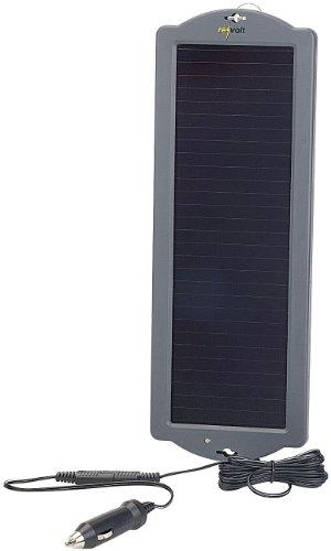 REVOLT Solarpanel Autobatterie: Erhaltungs-Solargerät für Auto- / PKW-Batterie 12V, 1,5W (Solar Ladegeräte für Autobatterien)