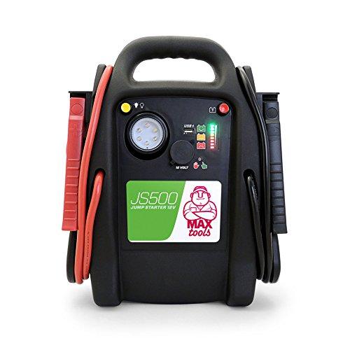 MAXTOOLS, JS500, Batterienotstarter für Autos und Transporter, 2200A 22Ah, für Dieselmotoren und Benzinmotoren, Jump Starter, Booster, mit LED-Licht und USB