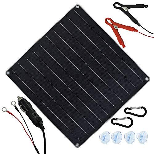 TP-solar 12V 20W Solar Autobatterie Ladegerät Tragbares Akku-Ladegerät Solarpanel Backup für Auto-Boot RV Traktor Motorrad Auto und Batterien