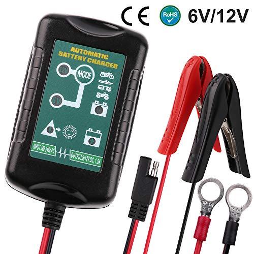 LotFancy 12V 5A Batterieladegerät Erhaltungsladegerät für Auto, Motorrad, Rasenmäher, Boot