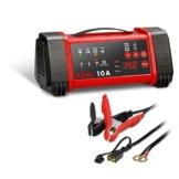 AEG Automotive 97019 Mikroprozessor-Ladegerät LL 10.0 Ampere für 12 und 24 V Batterien, 8-stufig -