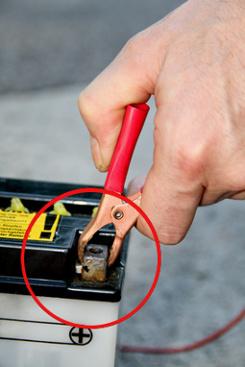 Sicherheitsvorkehrungen Batterie Erhaltungsladegerät.