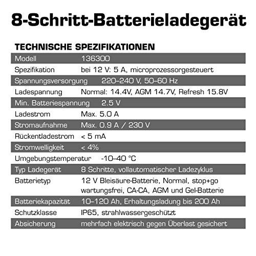 Dino 136300 Kraftpaket Batterieladegerät für KFZ PKW Auto Motorrad 12V-5A -