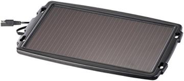 revolt Solar-Autoladegerät: Solar-Ladegerät für Auto-Batterien, 12 Volt, 2,4 Watt (Solar-Erhaltungsgerät) -